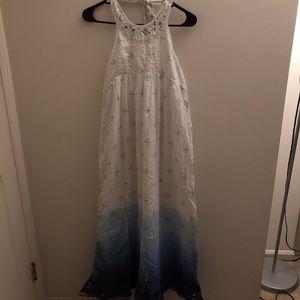 justice light blue & white maxi dress